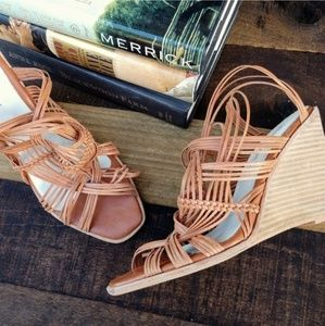 JEFFREY CAMPBELL Strappy Woven Wedge Sandal